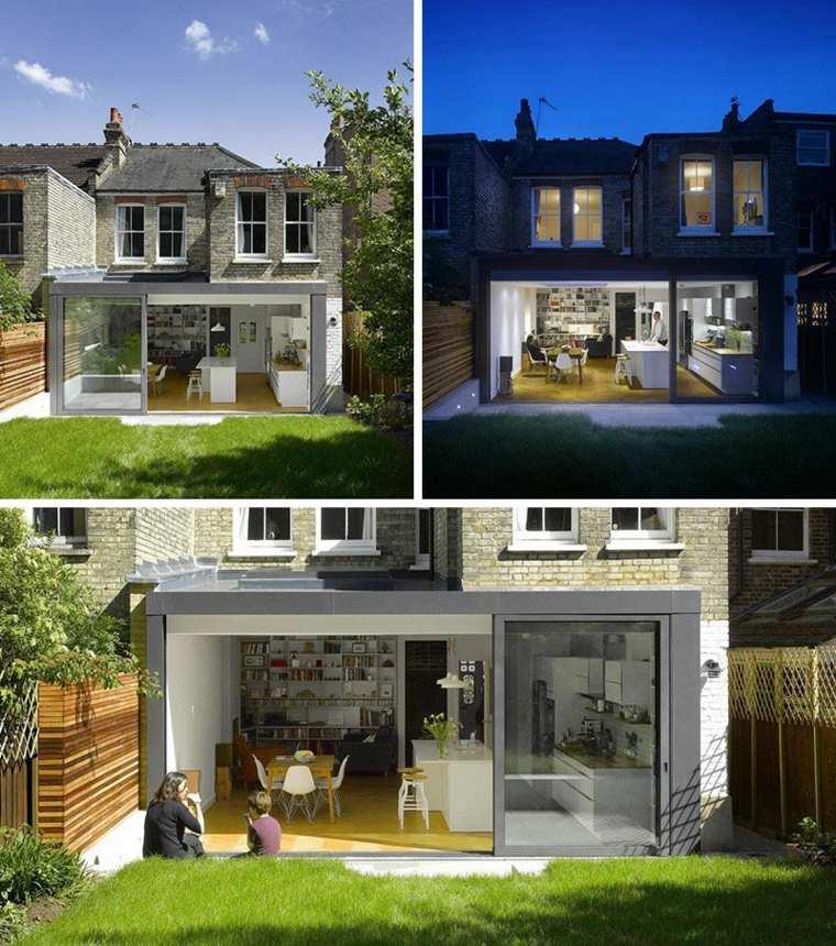 diseño moderno casa jardin