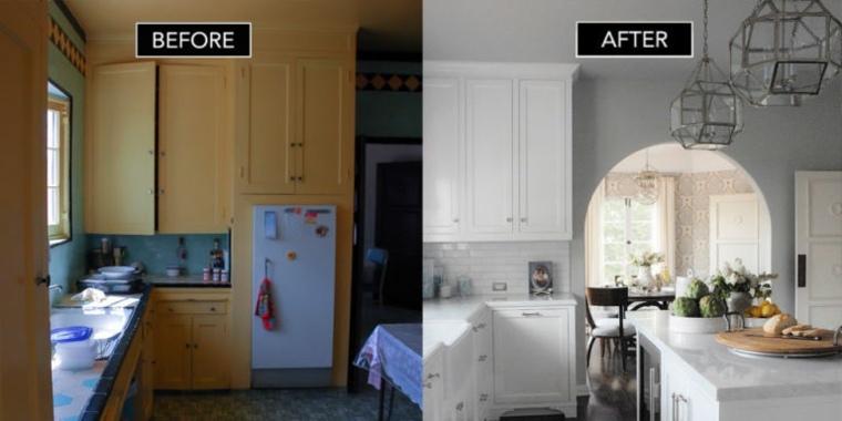 diseno remodelacion cocina blanca moderna