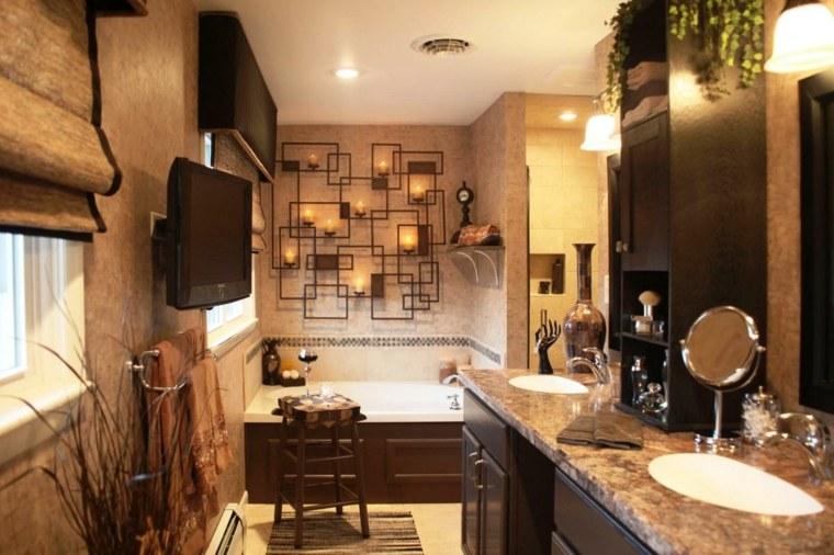 diseños de baños rústicos interior