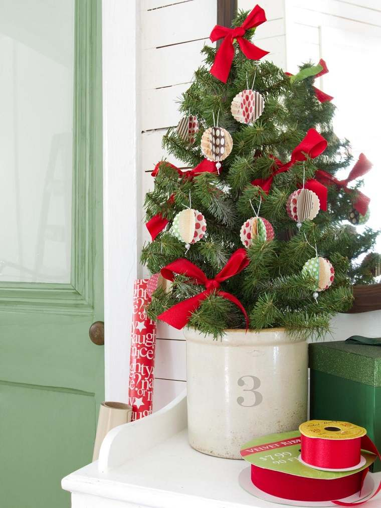 diy decoracion navidena arbol pequeno ideas