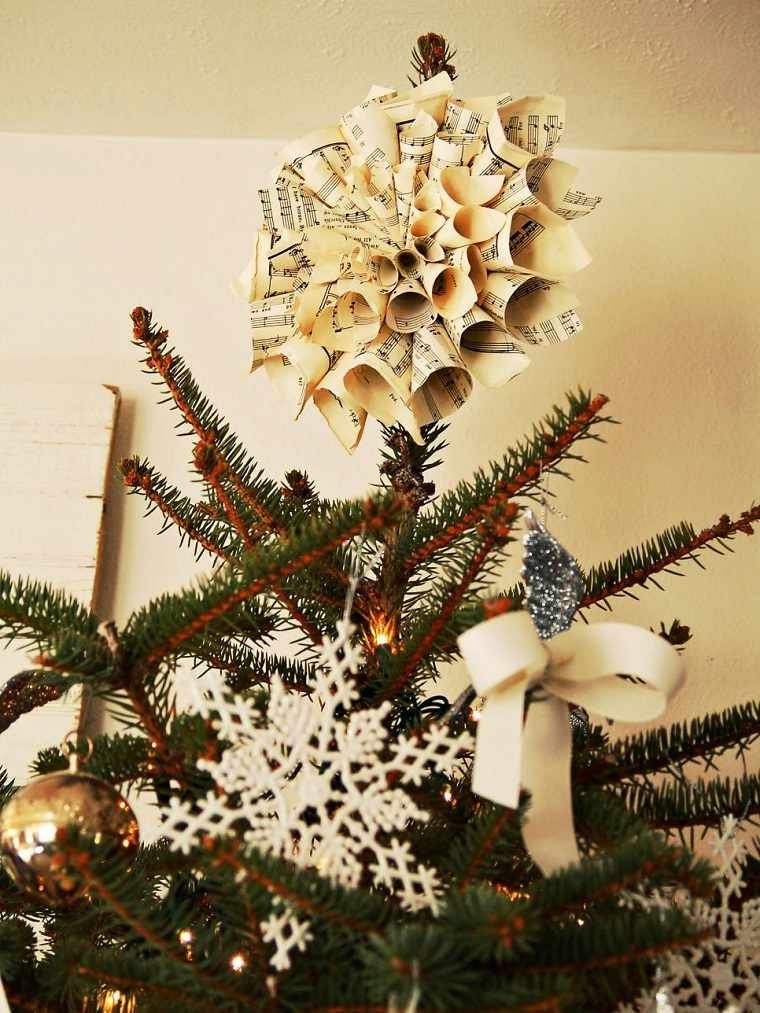 diy decoracion navidena estrella arbol papel ideas