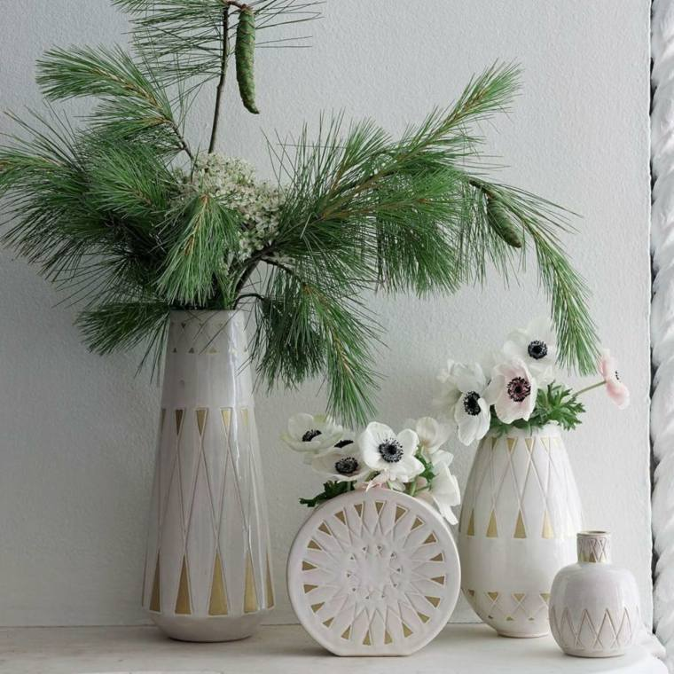diy decoracion navidena natural ramas ideas