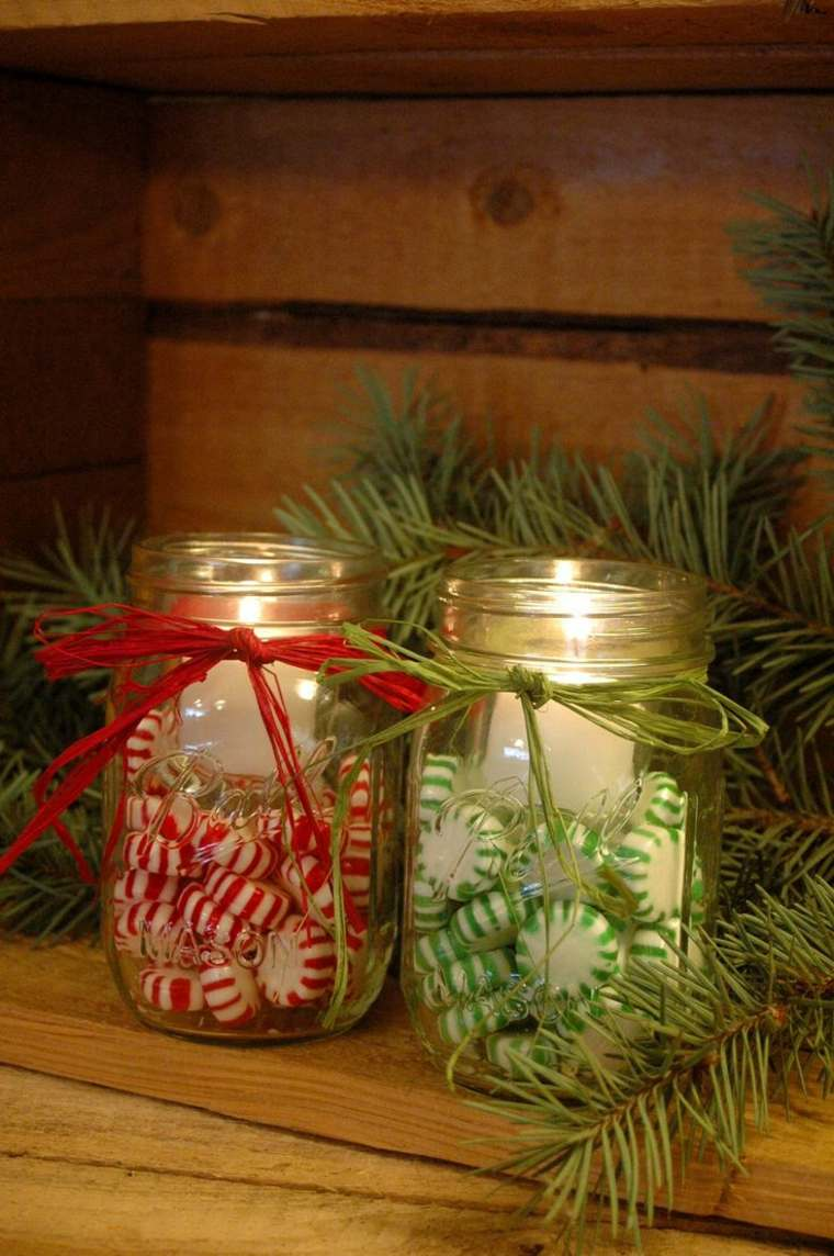 diy decoracion navidena velas iluminar ideas
