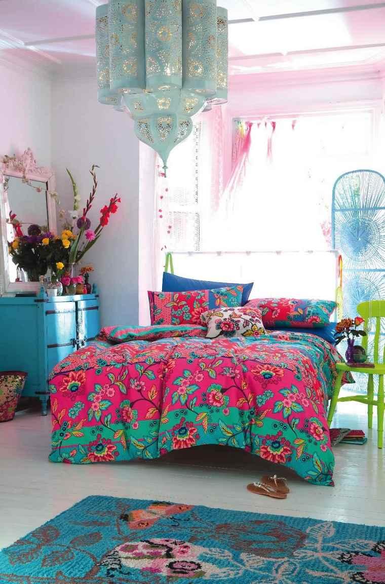 dormitorio colorido diseno bohemio colorido ideas
