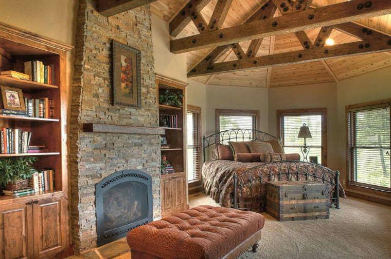 dormitorio lujoso estilo rústico