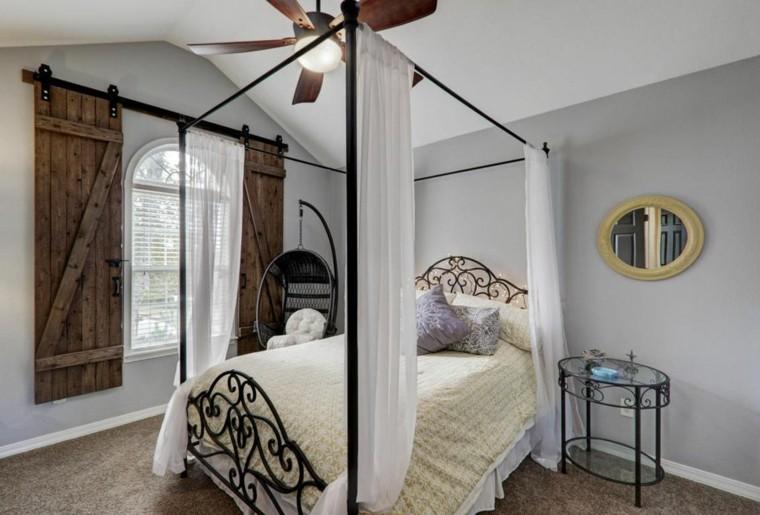 dormitorios rusticos diseno cama dosel dormitorio ideas