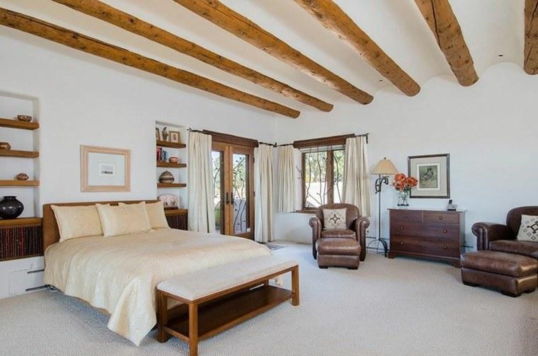 Dormitorios r sticos con belleza genuina - Vigas madera techo ...