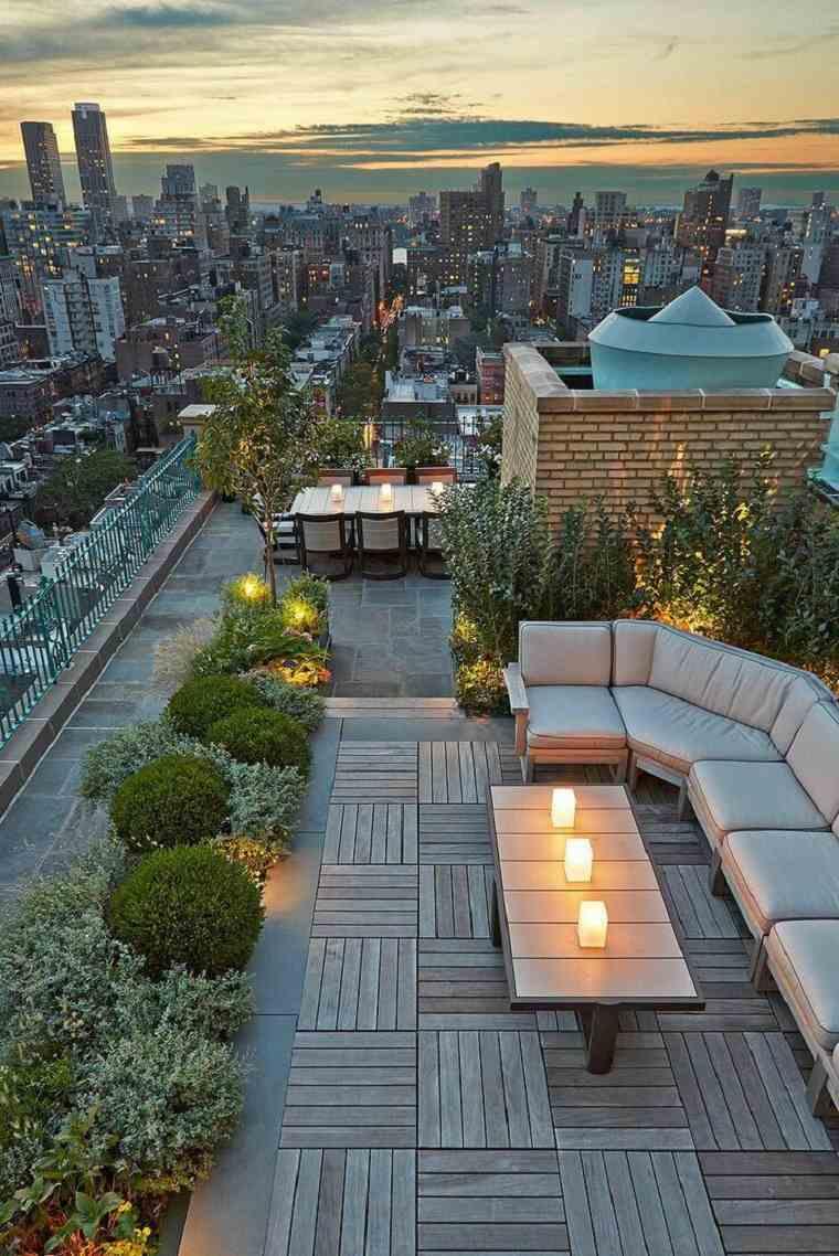dos espacio descanso terraza contemporanea estilo moderno