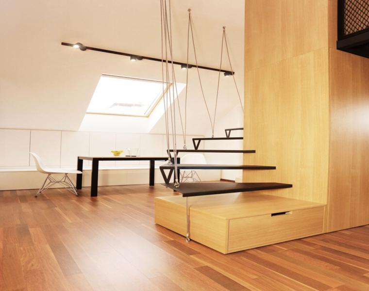 escaleras colgantes caracol modernas