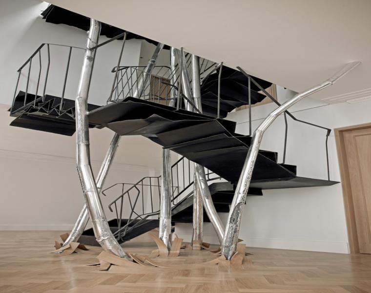 Escaleras modernas descubre los dise os m s inusuales - Barandillas escaleras modernas ...