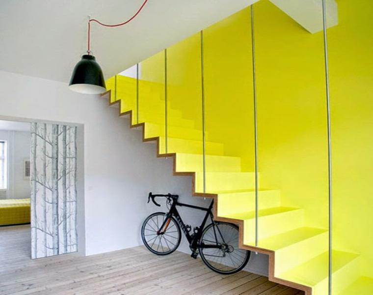 originales escaleras interior amarillas modernas