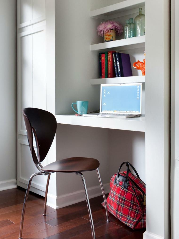 escritorio sencillo moderno blanco peqeuno
