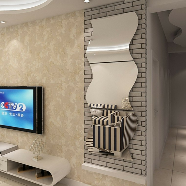 Espejos modernos para el interior de casa for Espejos en la pared del dormitorio