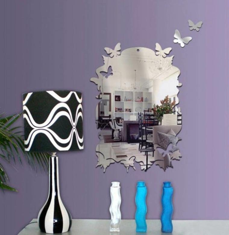 espejos modernos decorar paredes