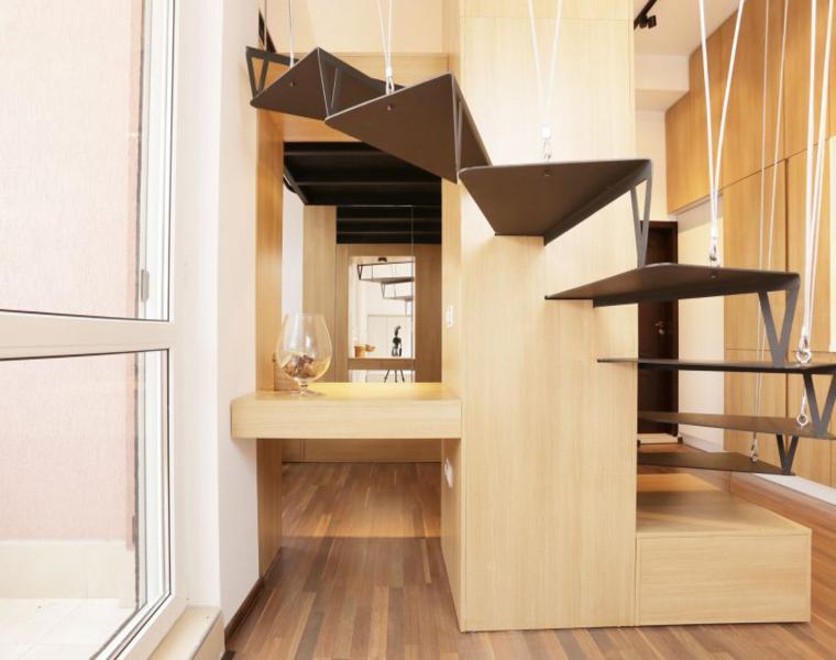 diseño interior moderno madera