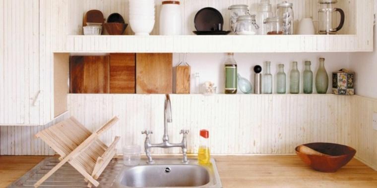 estantes de cocina