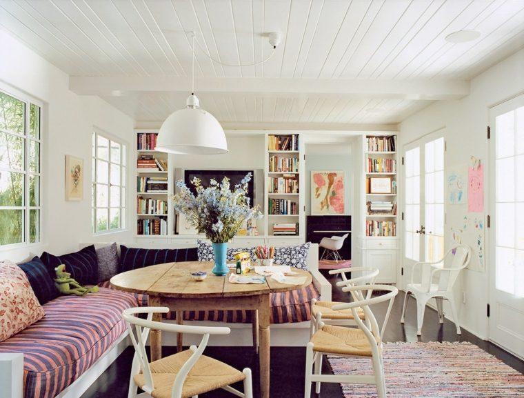 estilo bohemio decoracion interiores comedor diseno ideas