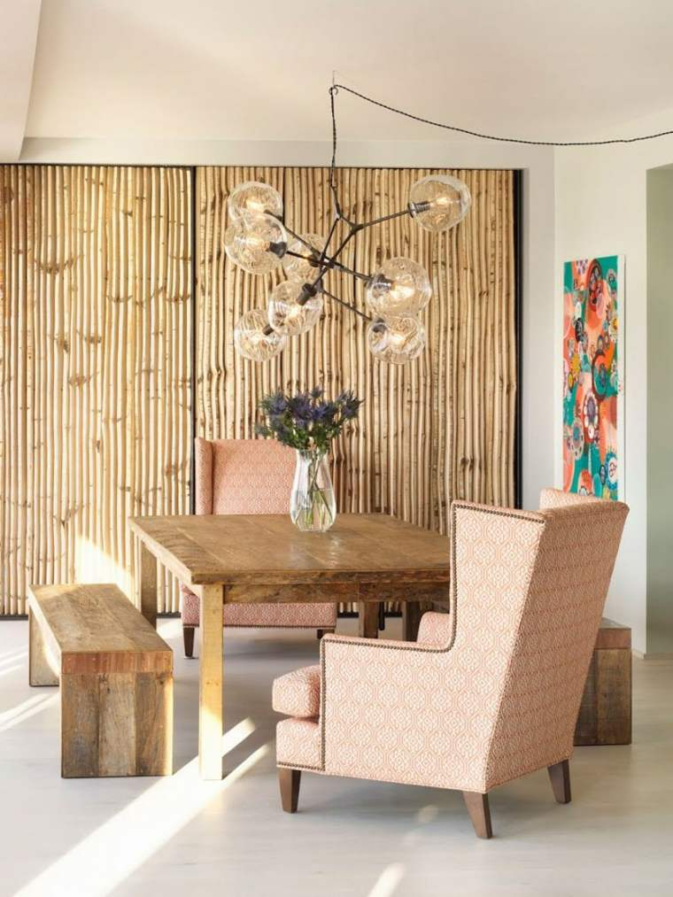 estilo bohemio decoracion interiores comedores diseno ideas