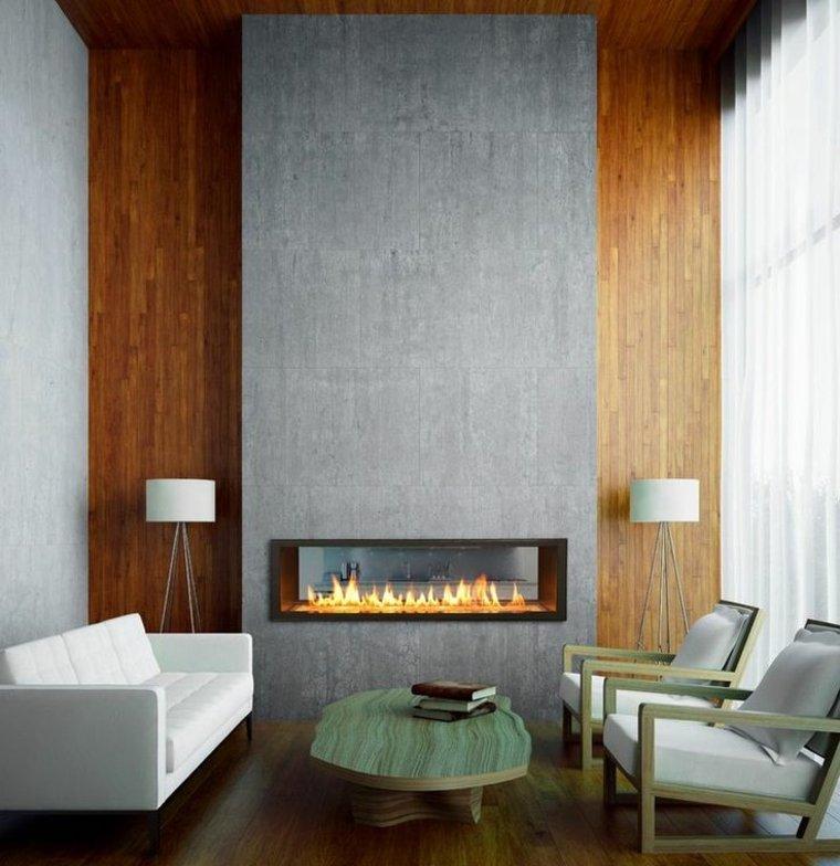 estupenda chimenea gas moderna salón