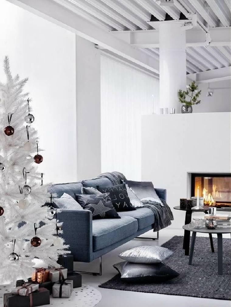 estupenda decoración arbol blanco