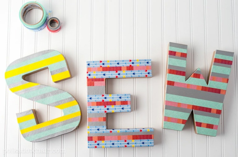 estupendas ideas decorativas letras pared