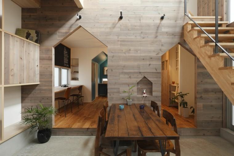 estupendo diseno interior acentos madera