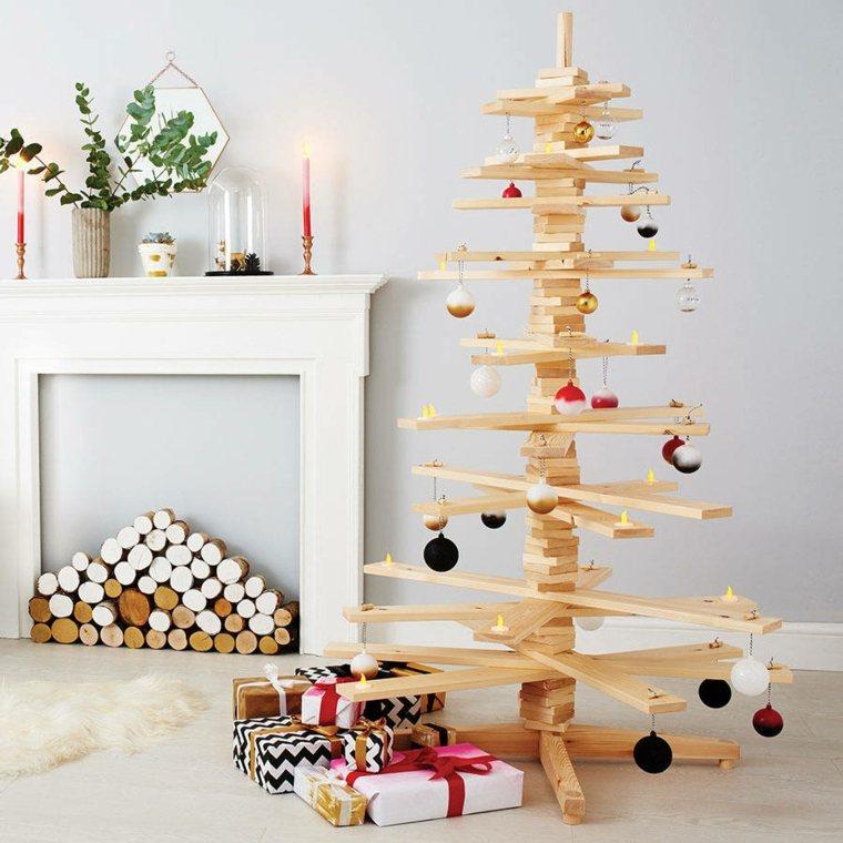 Ideas arbol navidad madera