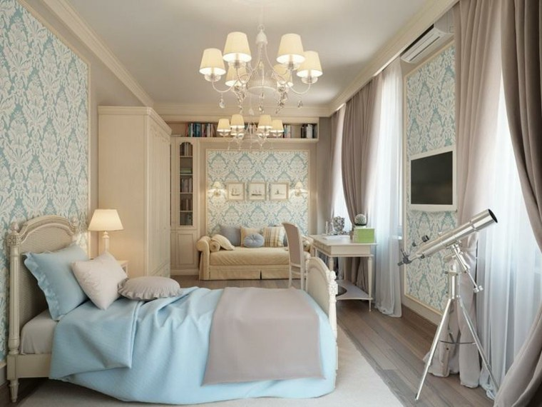 habitación femenina estilo shabbi chic