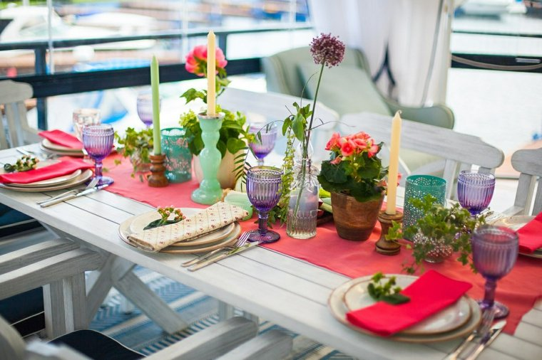 flores plantas boda centro mesa ideas