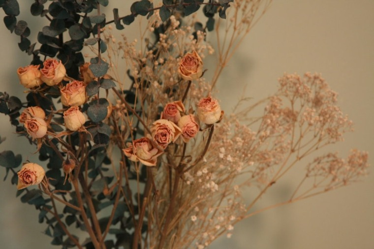 flores secas para decorar casa