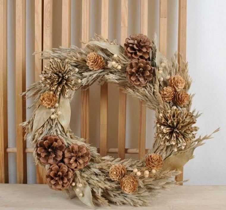 flores secas para decorar pared