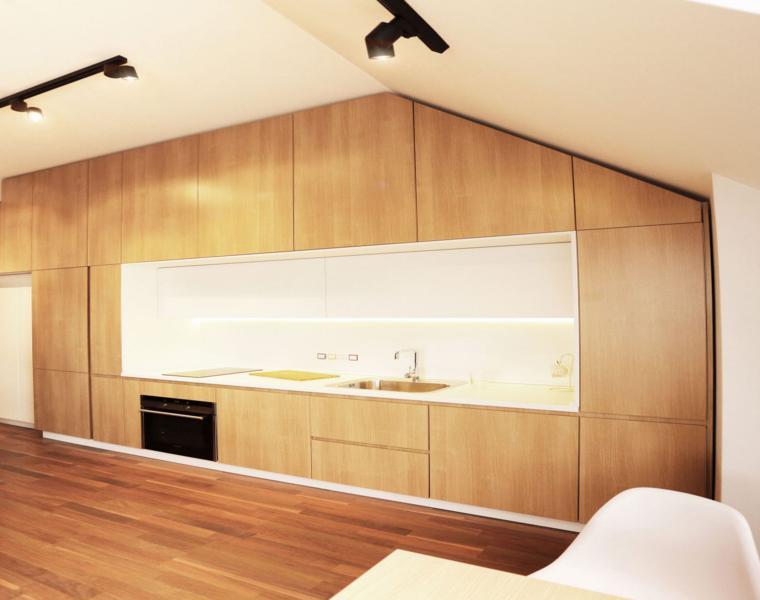 gabinetes cocina modernos madera