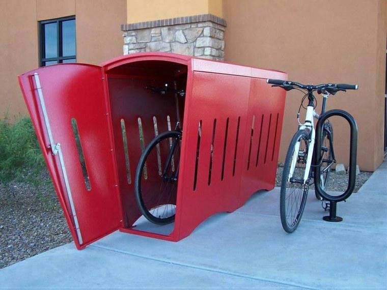 guarda bicicletas jardín