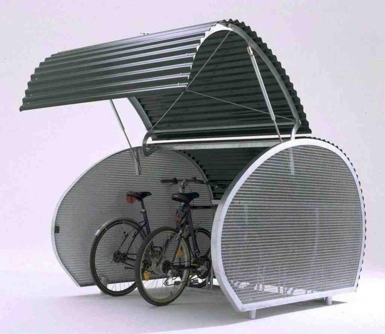 guarda bicicletas modernas