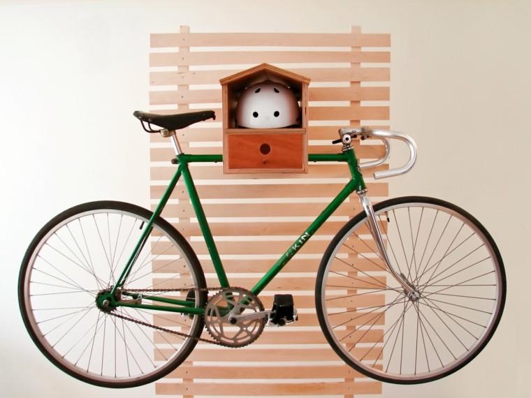 guarda bicicletas pared