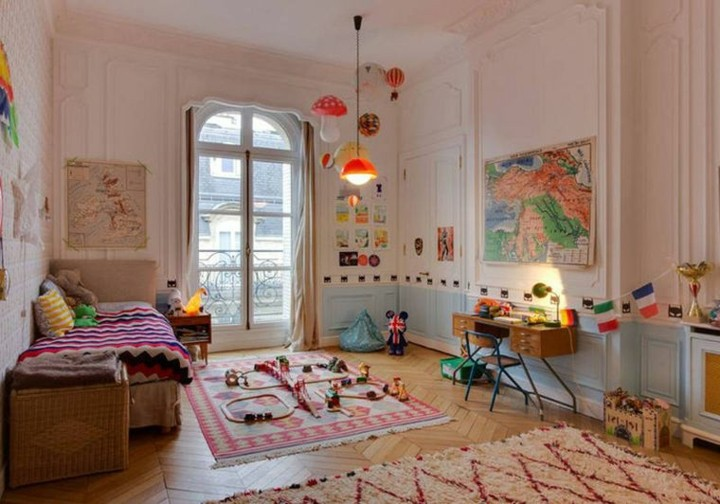 habitacion infantil colores especiales paredes