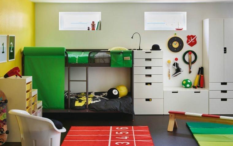 habitacion infantil diseno moderno literas chicos ideas