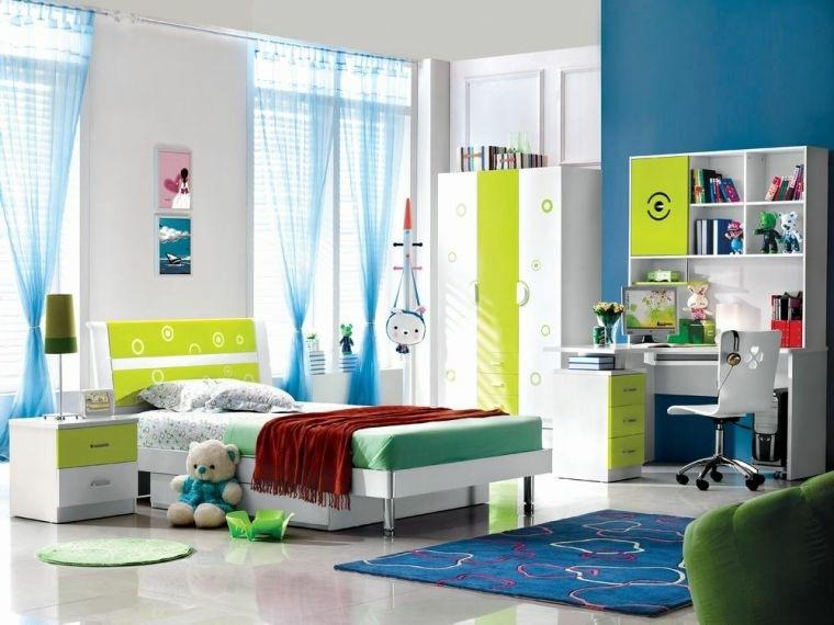 habitacion infantil diseno moderno muebles blancos ideas