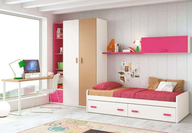 habitacion infantil diseno moderno toques rosa ideas