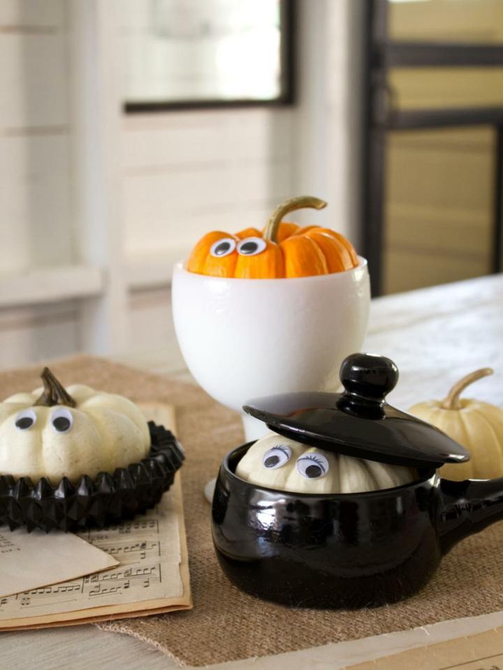 halloween decoracion diy calabazas ojos cocinas