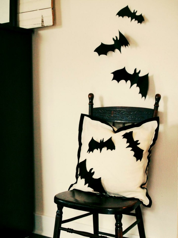 halloween decoracion diy cartulina negra tiempo