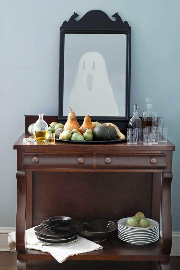 halloween decoracion diy dibujo ventana frutas