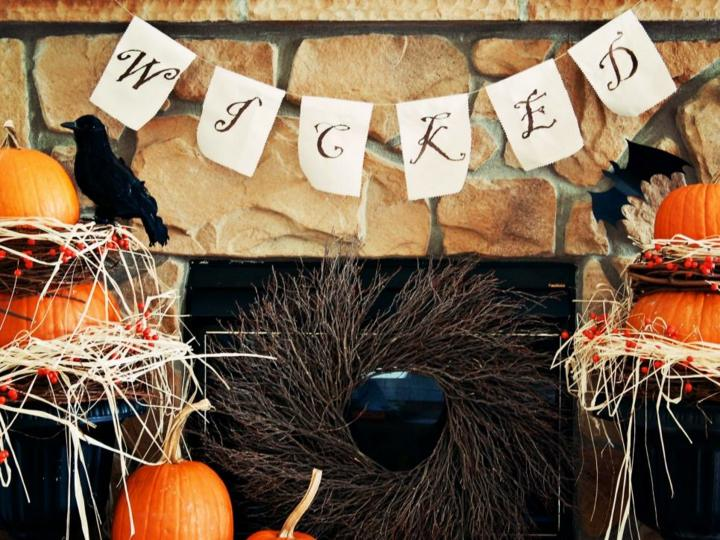 halloween decoracion diy plantas letras semillas
