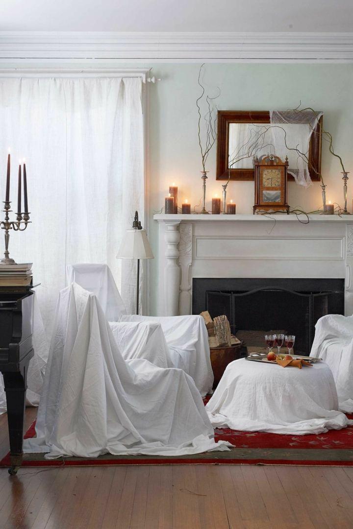 halloween decoracion diy suelos madera candelabros
