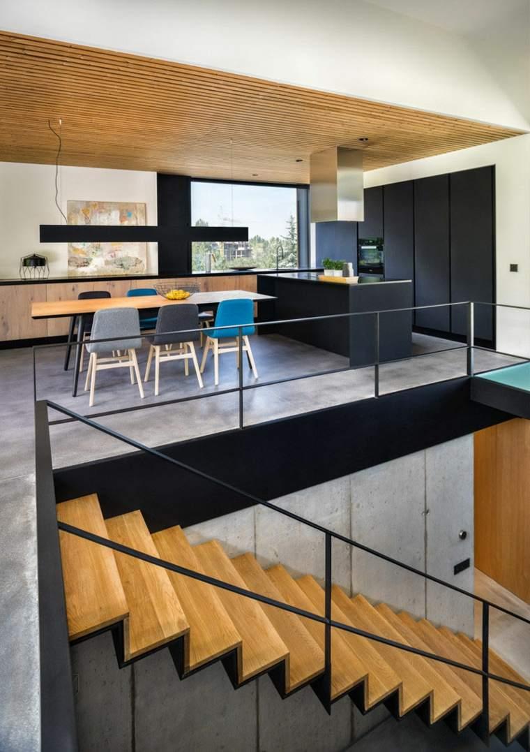 hormigon pulido suelo casa diseno cocina comedor ideas