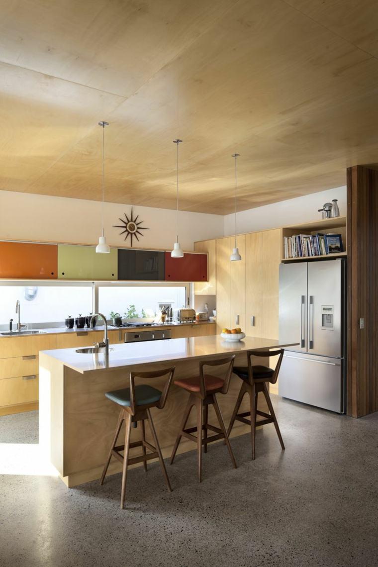 hormigon pulido suelo casa diseno cocina ideas