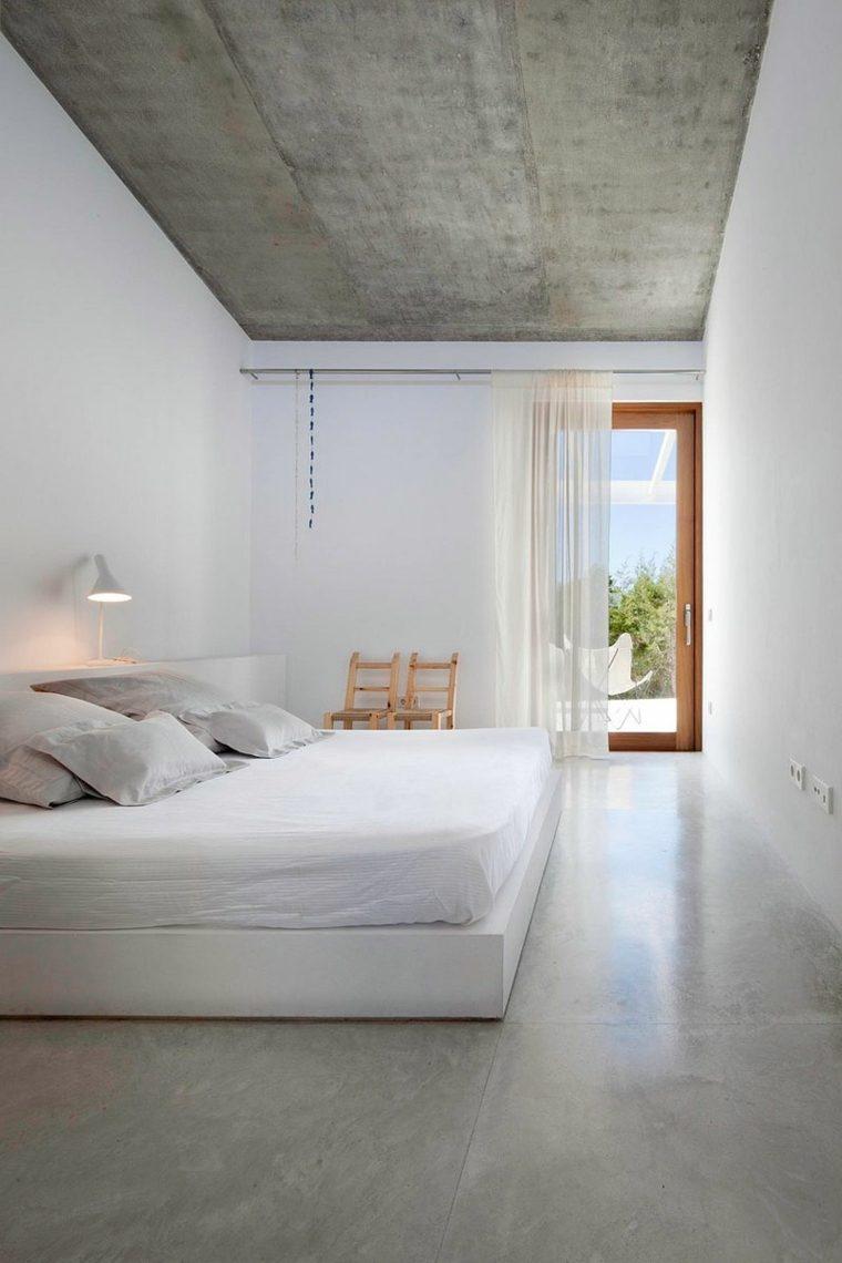 hormigon pulido suelo casa diseno dormitorio minimalista ideas