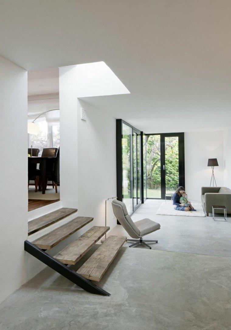 hormigon pulido suelo casa diseno espacios modernos ideas