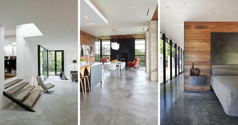 hormigon pulido suelo casa diseno original opciones ideas