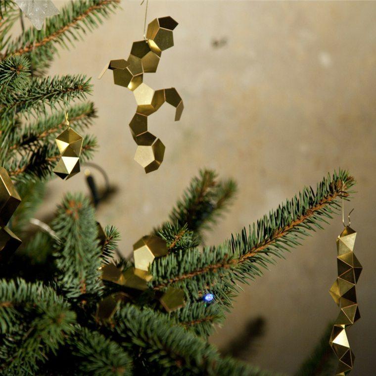 ideas adornos senciillos árbol navidad